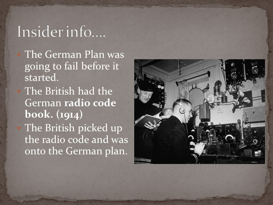 Insider info…. The German Plan was going to fail before it started.