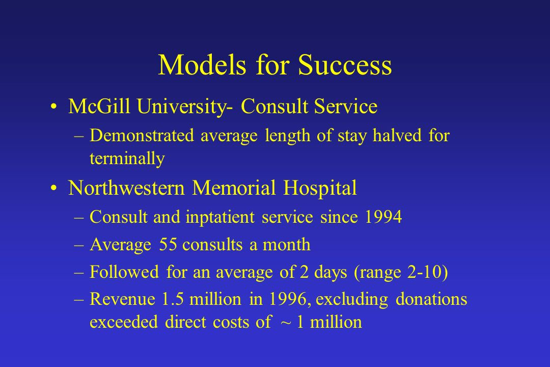 Models for Success McGill University- Consult Service