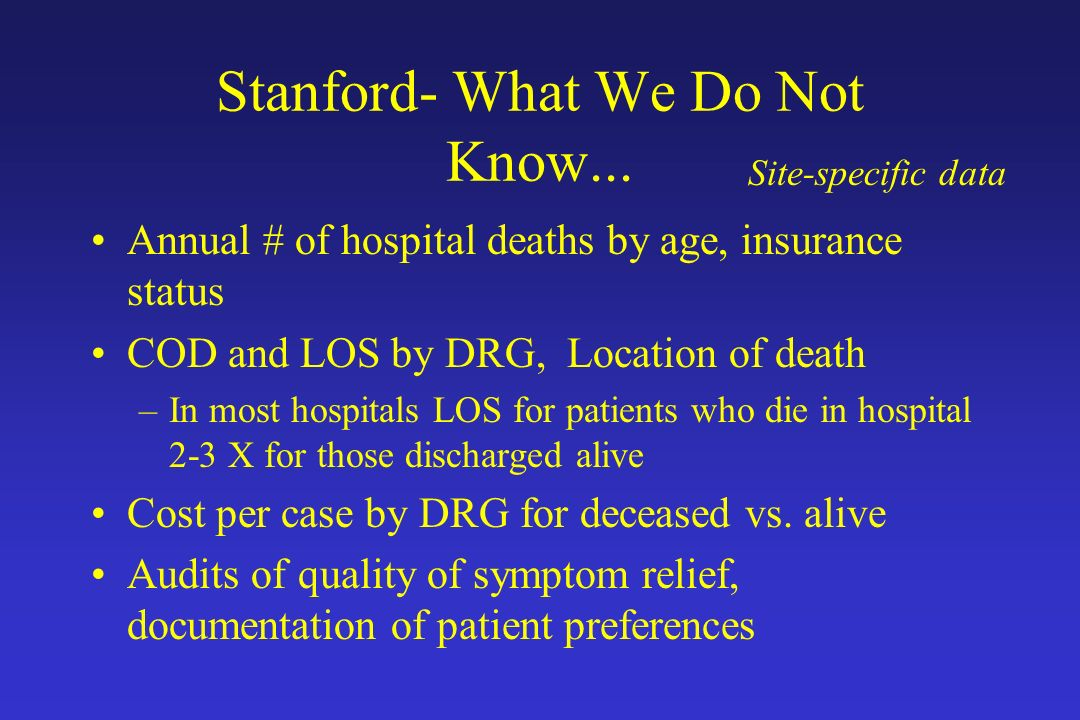 Stanford- What We Do Not Know...