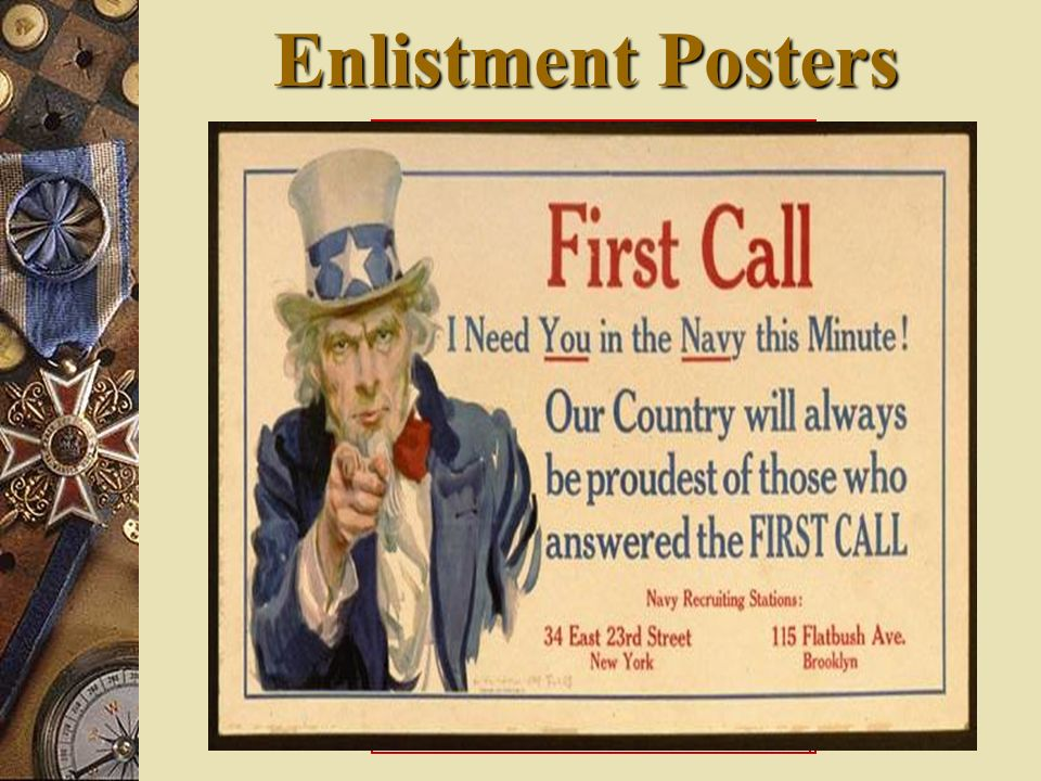 Enlistment Posters