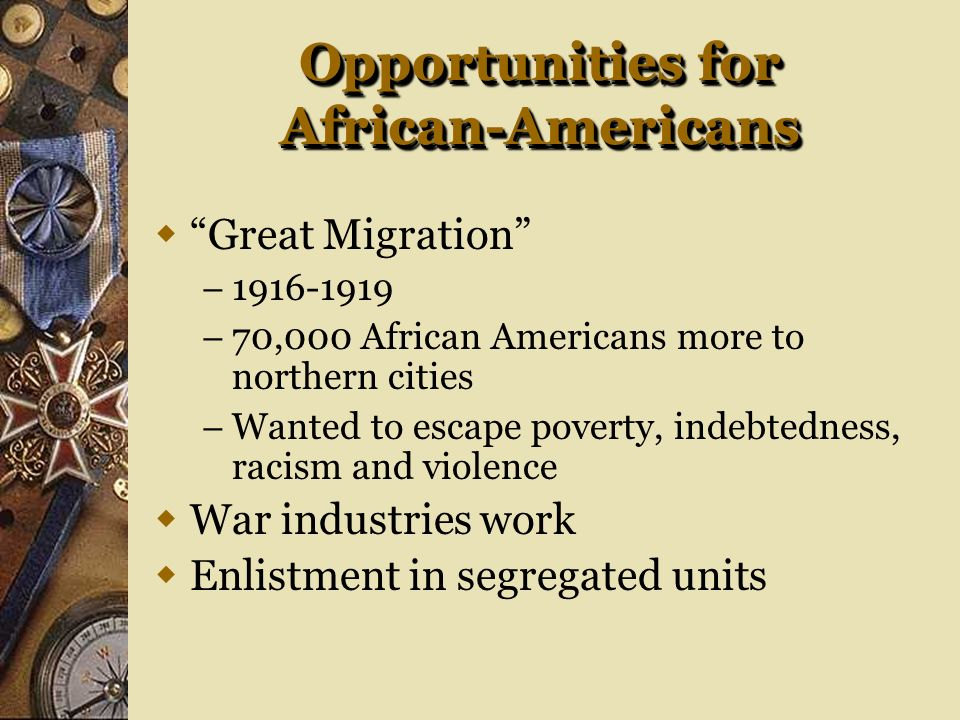 Opportunities for African-Americans