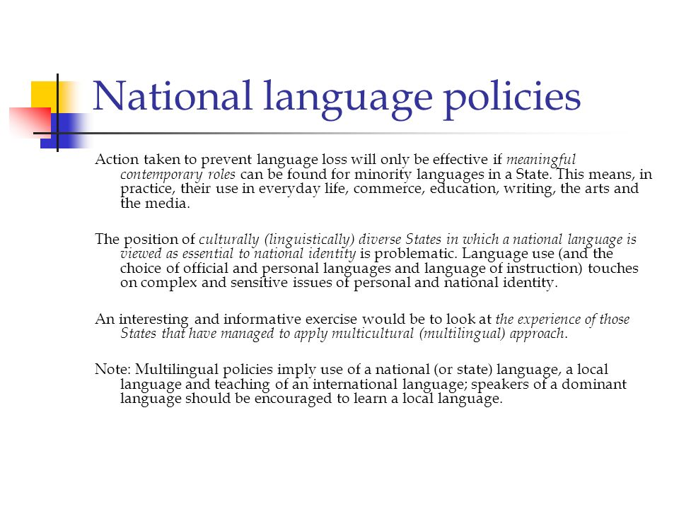 National language policies