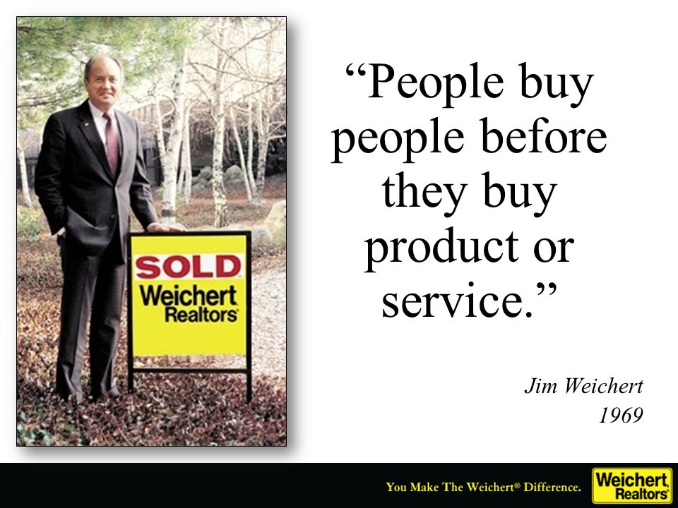 People buy people before they buy product or service.