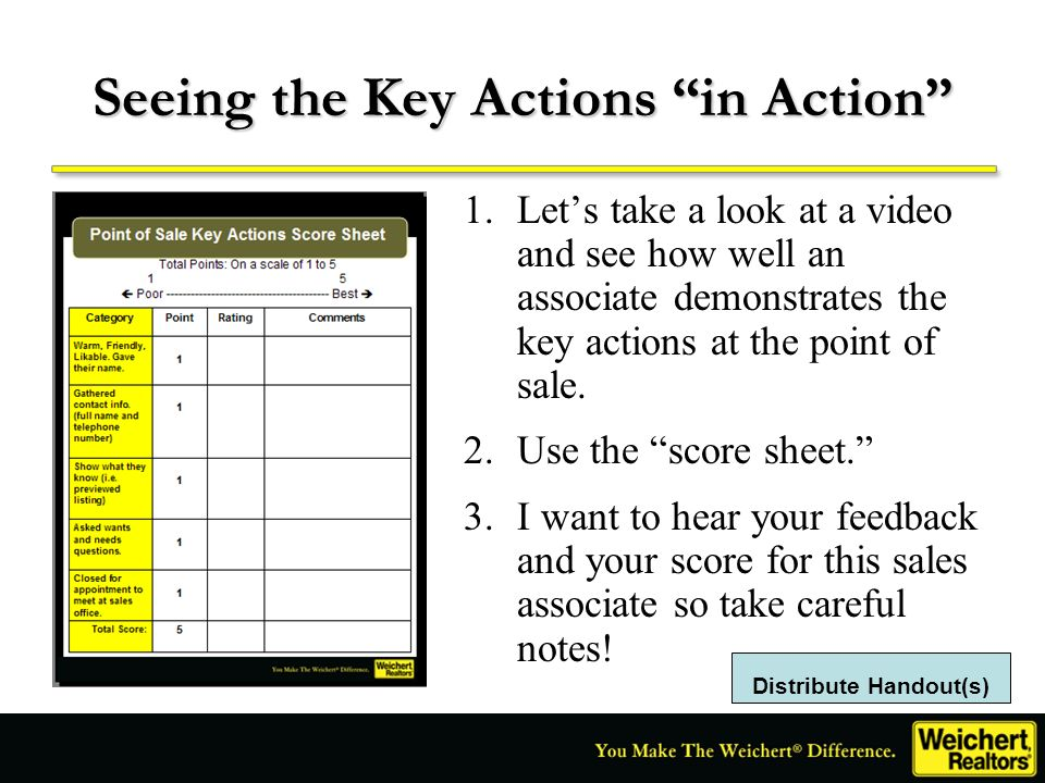 Seeing the Key Actions in Action