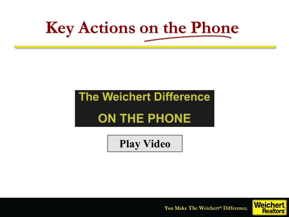 Key Actions on the Phone