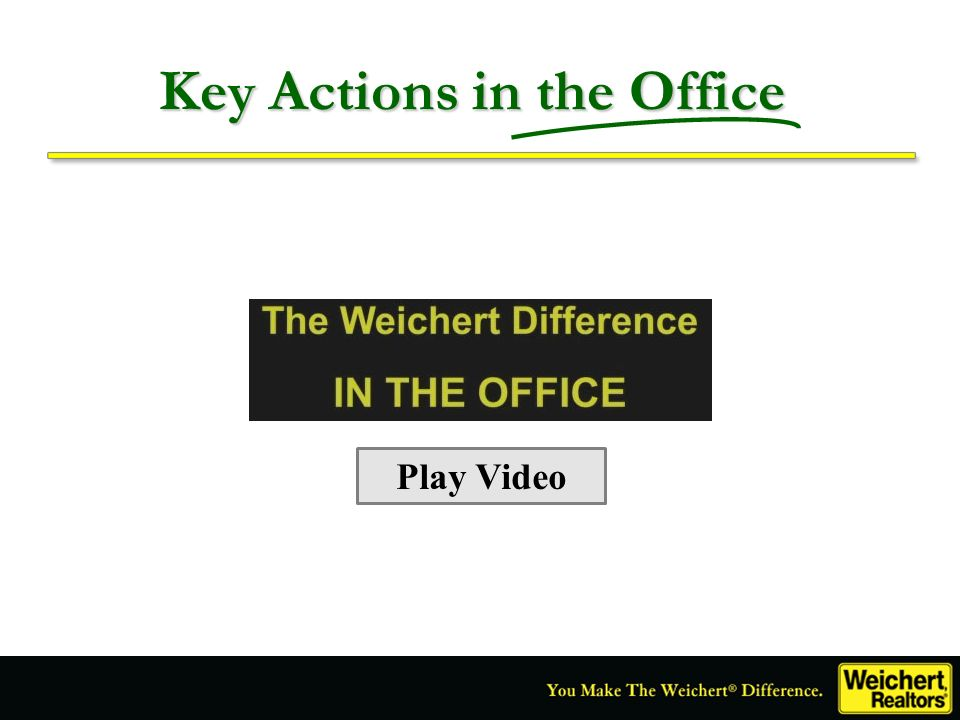 Key Actions in the Office