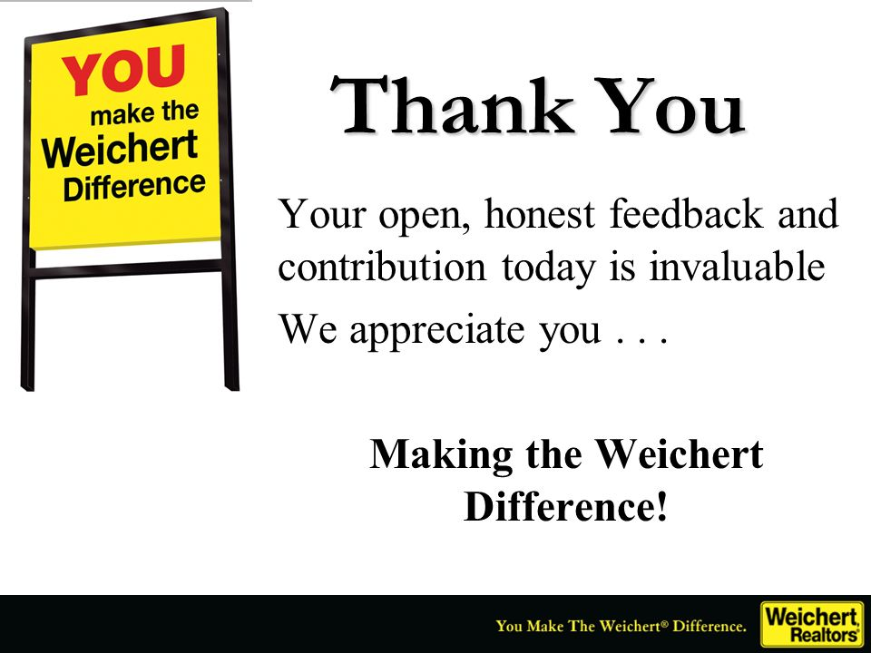 Making the Weichert Difference!
