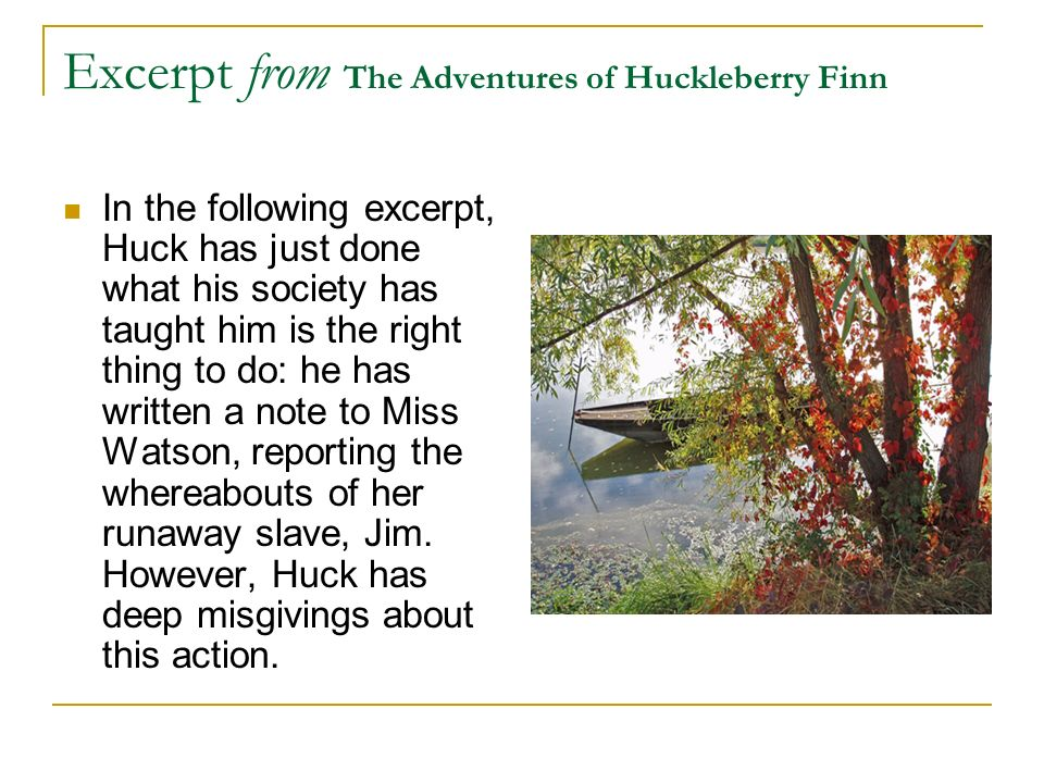 Excerpt from The Adventures of Huckleberry Finn