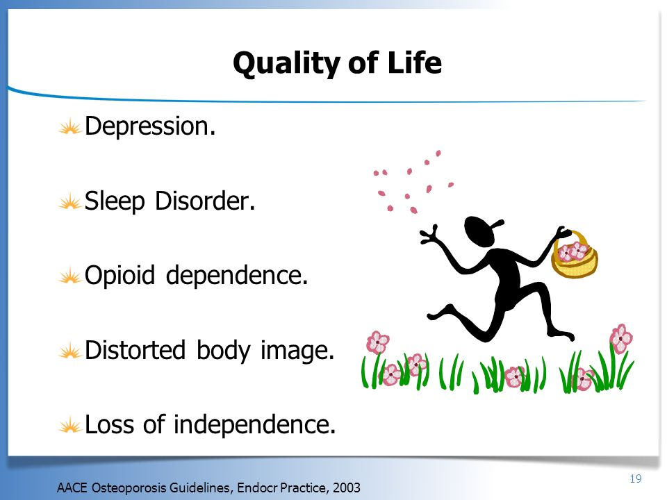 Quality of Life Depression. Sleep Disorder. Opioid dependence.