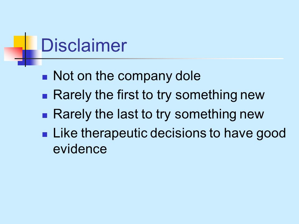 Disclaimer Not on the company dole