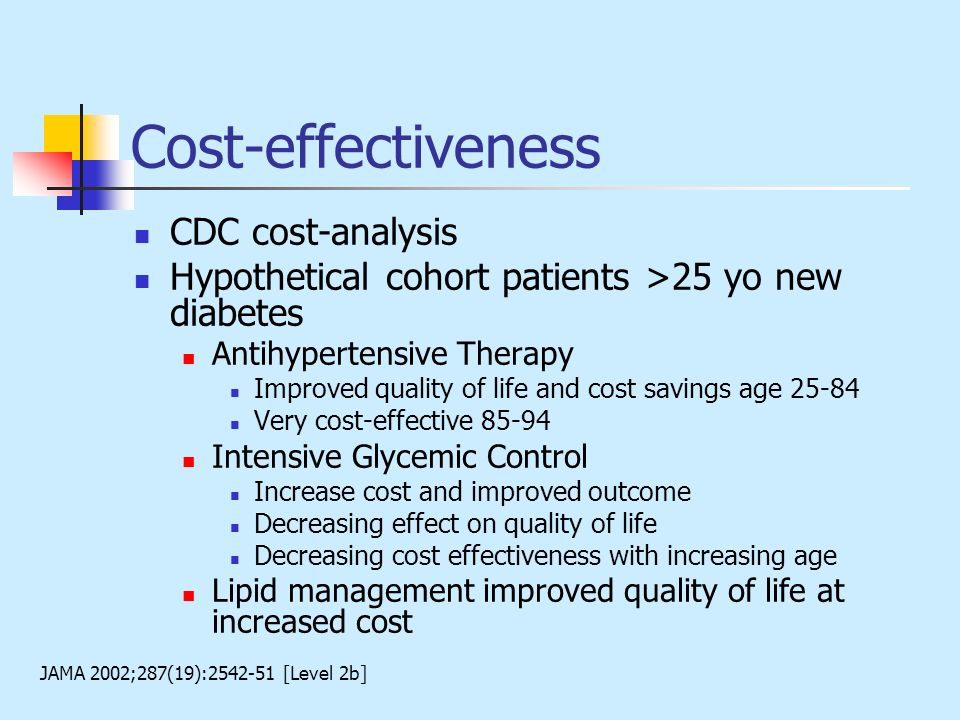 Cost-effectiveness CDC cost-analysis