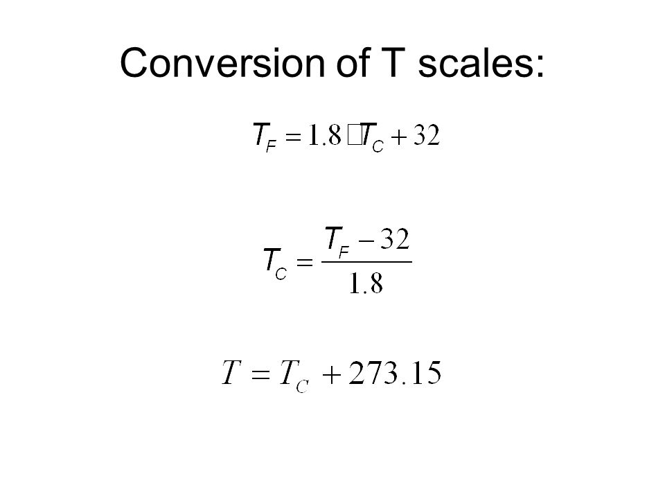 Conversion of T scales: