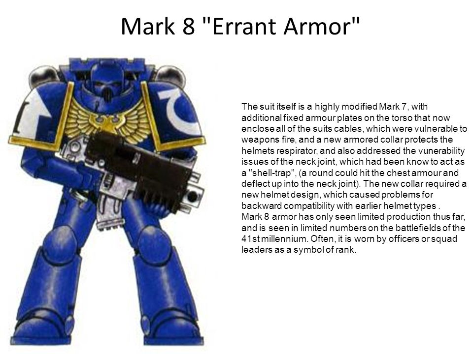 Mark 8 Errant Armor