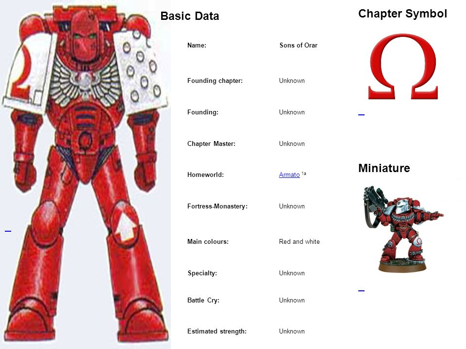 Basic Data Chapter Symbol Miniature Name: Sons of Orar