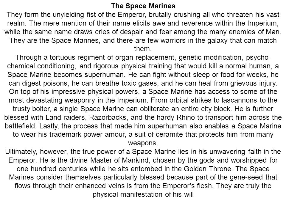 The Space Marines