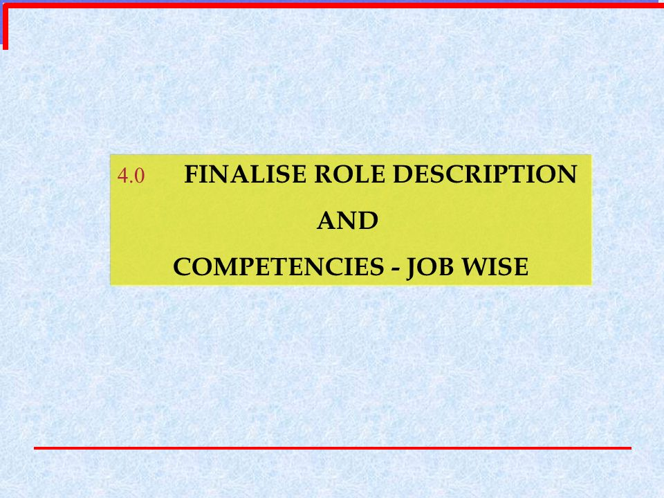 COMPETENCIES - JOB WISE
