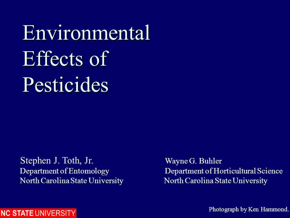 Environmental Effects of Pesticides