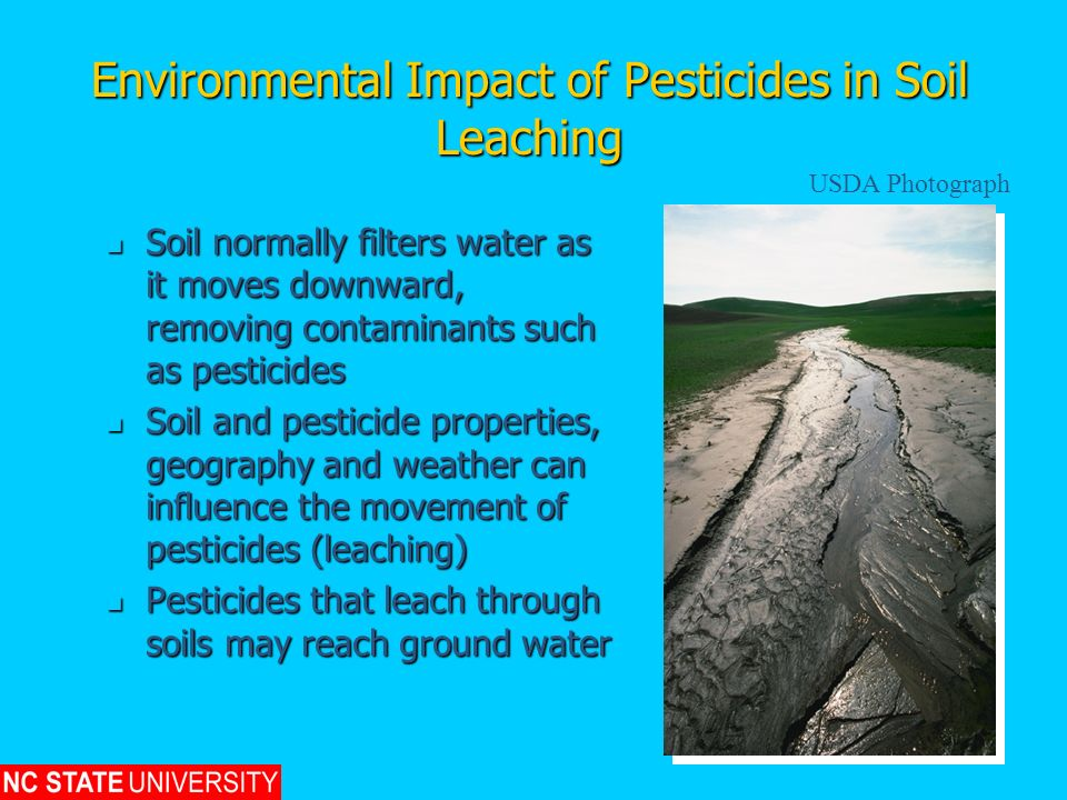 Environmental Impact of Pesticides in Soil Leaching
