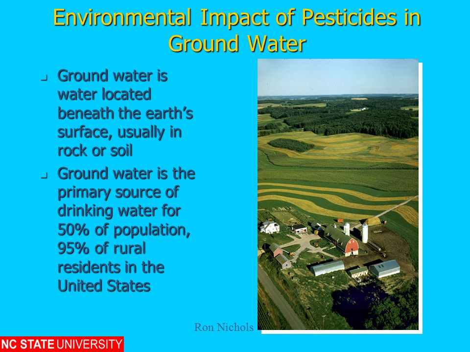 Environmental Impact of Pesticides in Ground Water