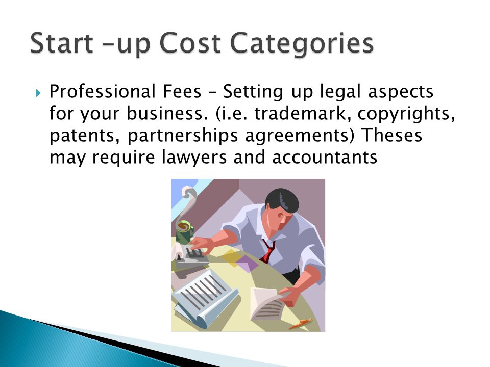 Start –up Cost Categories