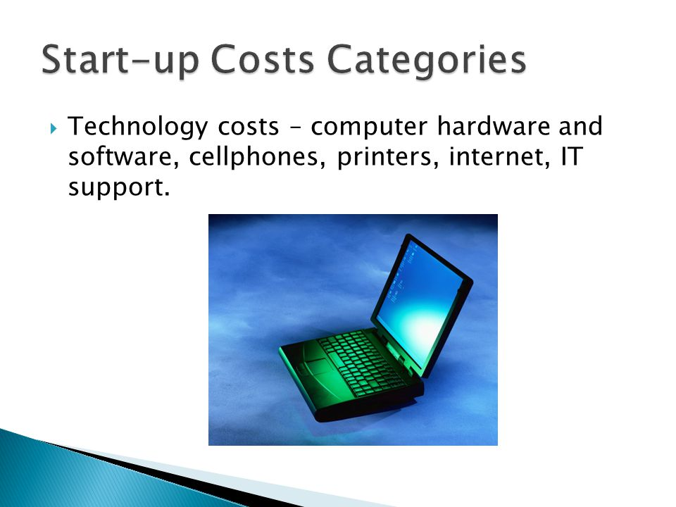Start-up Costs Categories