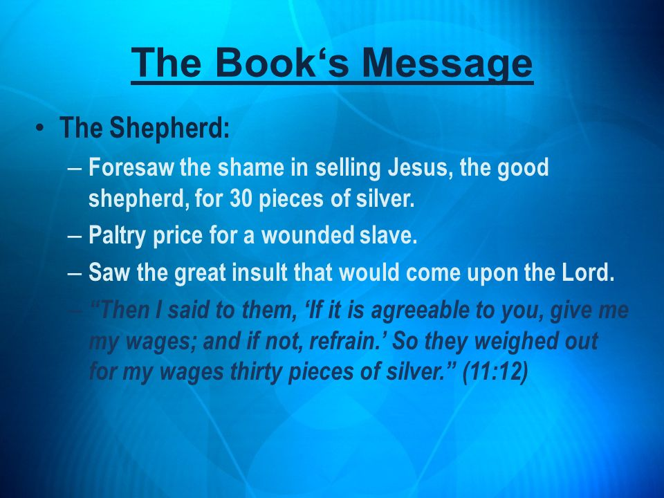 The Book's Message The Shepherd: