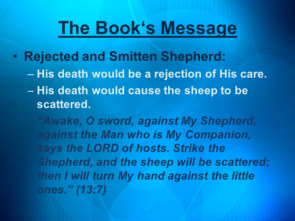The Book's Message Rejected and Smitten Shepherd: