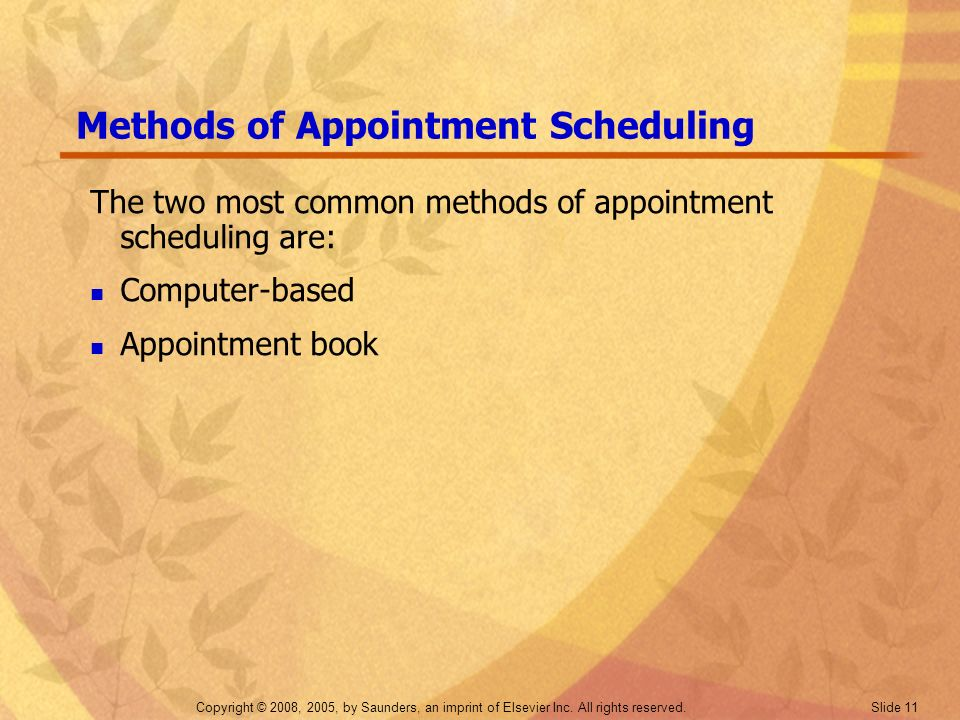 Methods of Appointment Scheduling