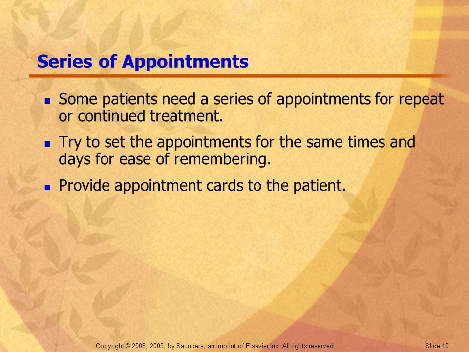 Series of Appointments