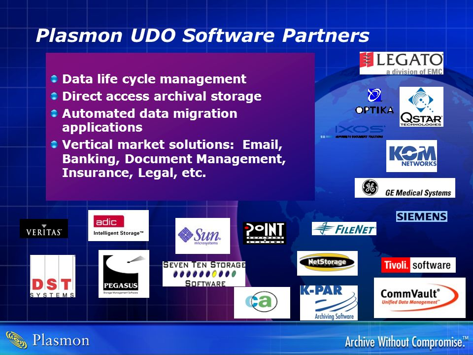 Plasmon UDO Software Partners