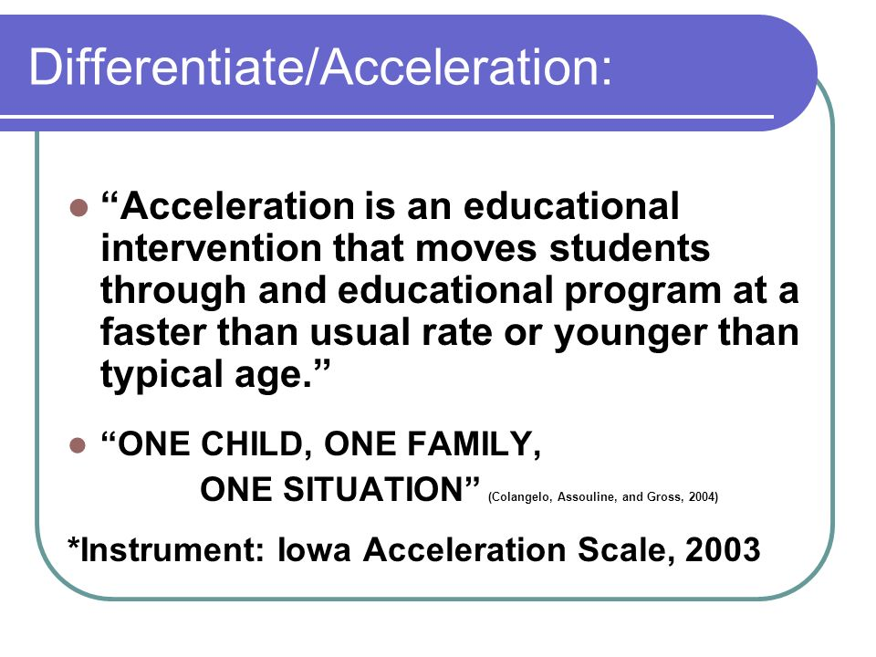 Differentiate/Acceleration: