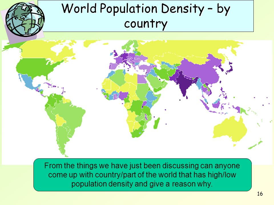World Population Density – by country