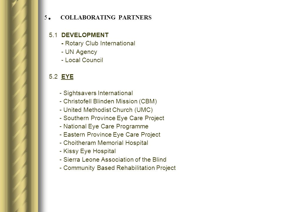 5. COLLABORATING PARTNERS