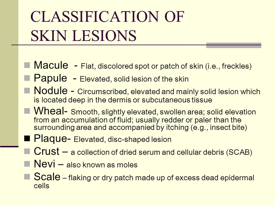 CLASSIFICATION OF SKIN LESIONS