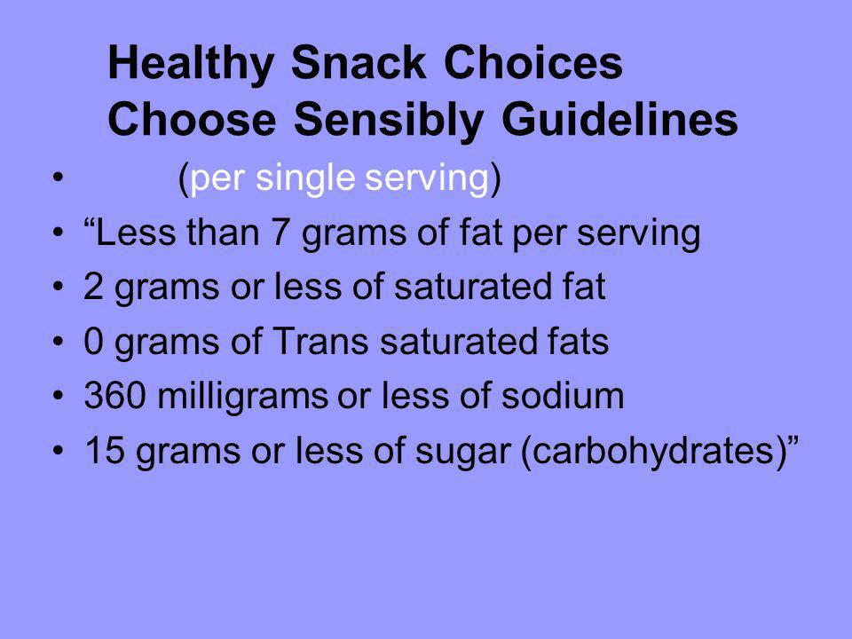 Choose Sensibly Guidelines
