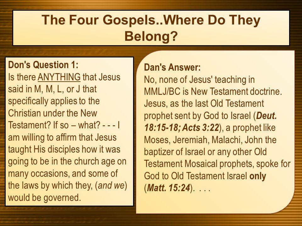 Do The Books Of Matthew Mark Luke And John Belong In The