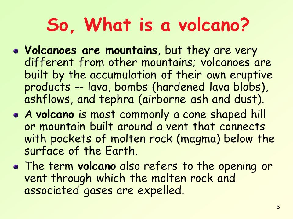 So, What is a volcano