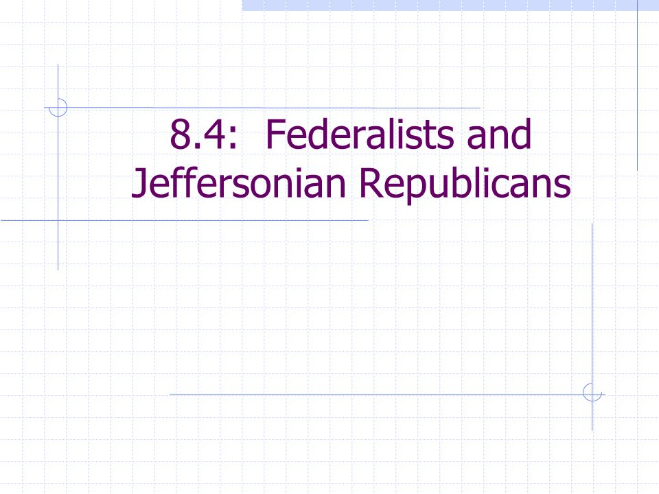 8.4: Federalists and Jeffersonian Republicans