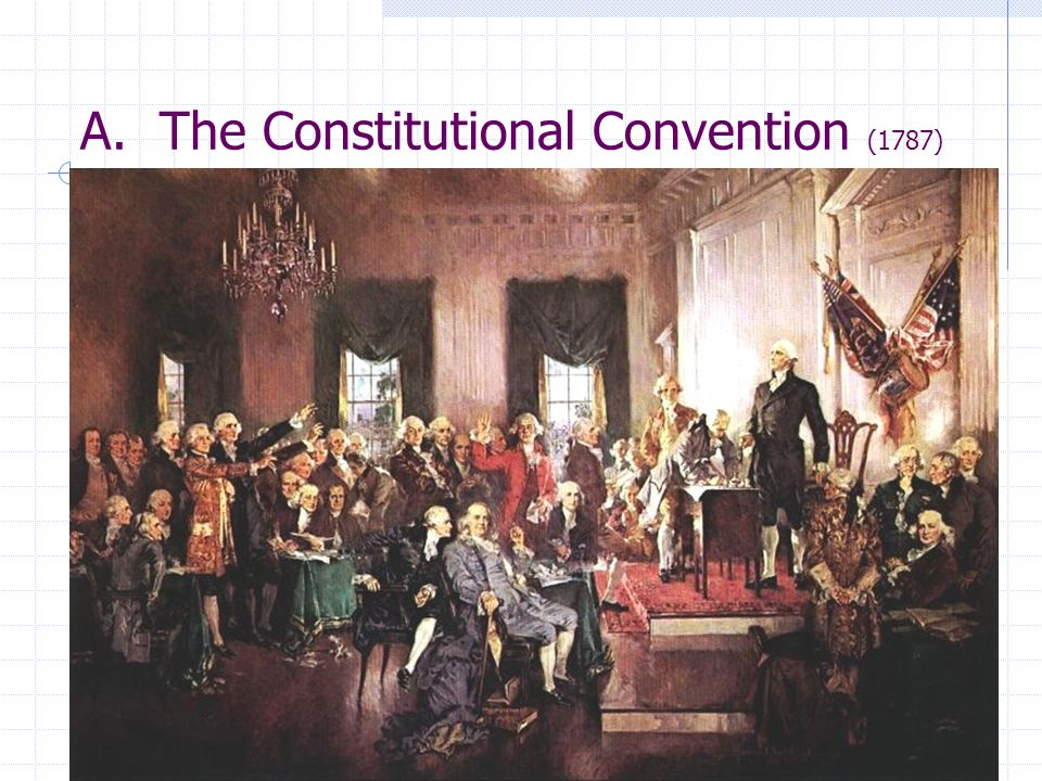 A. The Constitutional Convention (1787)