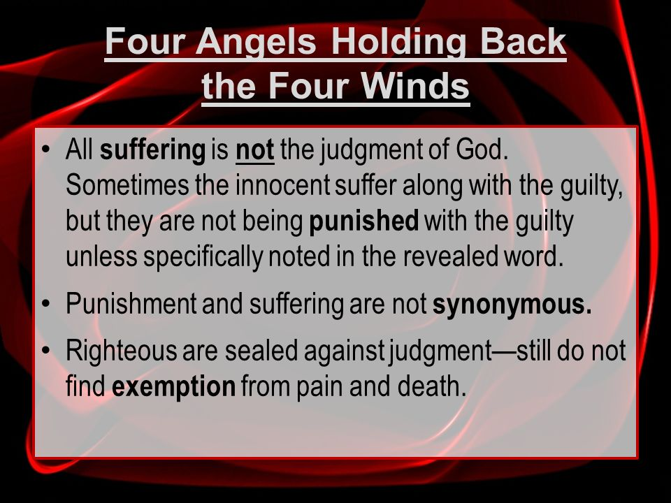 Four Angels Holding Back the Four Winds