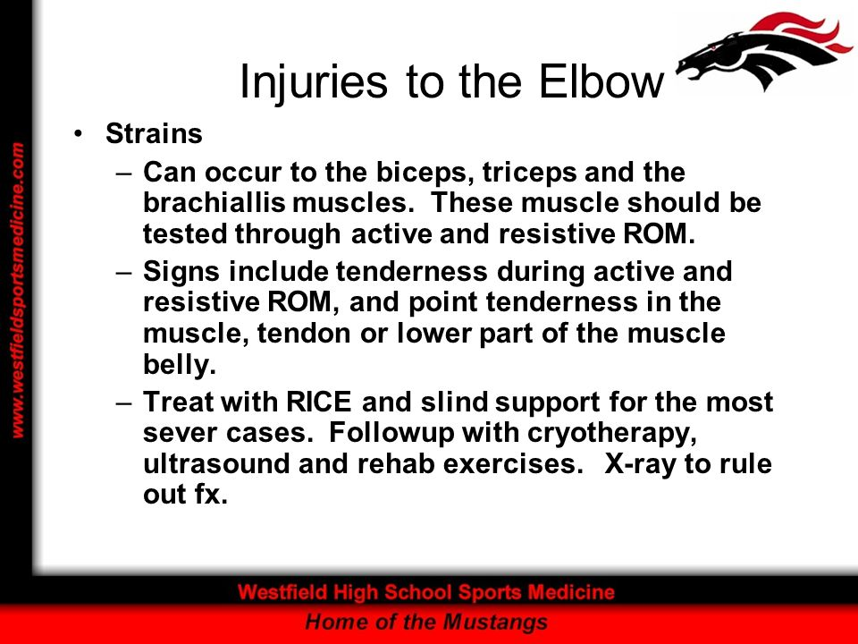 Injuries to the Elbow Strains