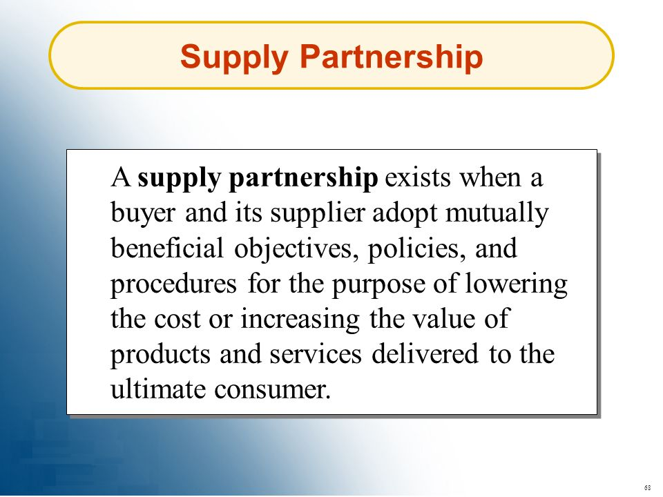 Supply Partnership