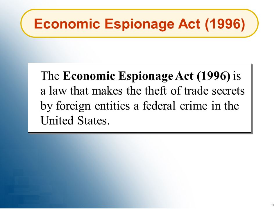 Economic Espionage Act (1996)