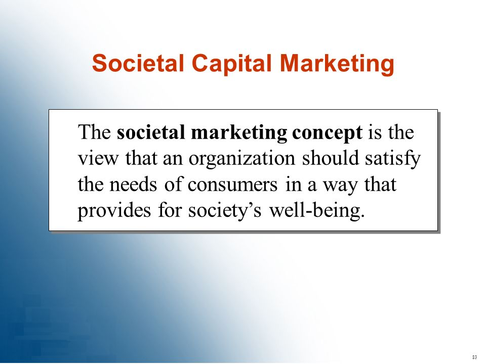 Societal Capital Marketing