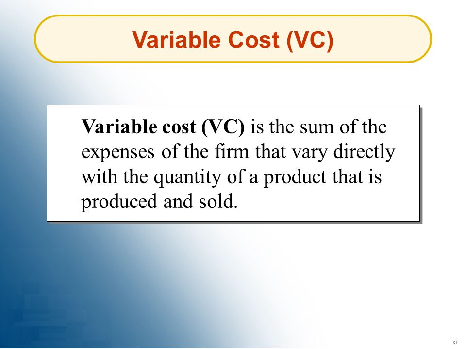 Variable Cost (VC)