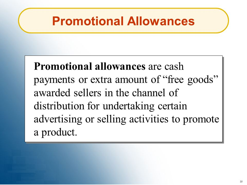 Promotional Allowances