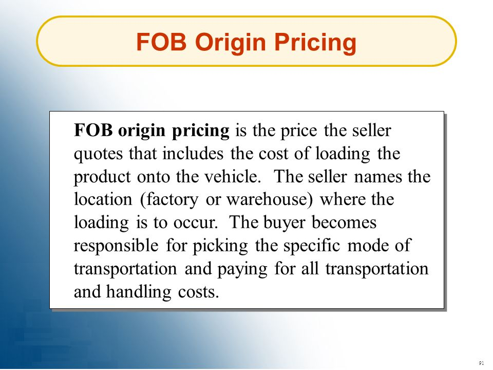 FOB Origin Pricing