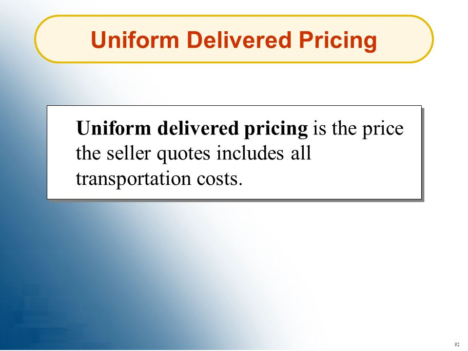 Uniform Delivered Pricing