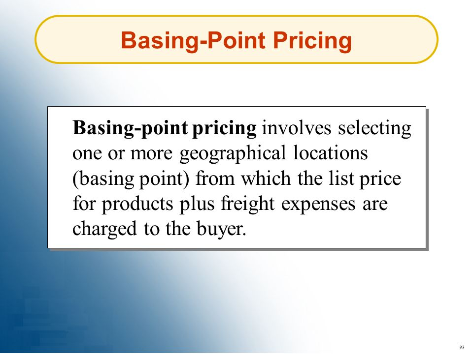 Basing-Point Pricing