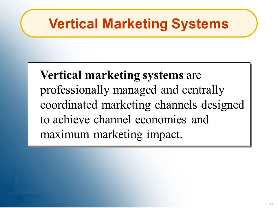 Vertical Marketing Systems